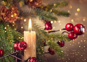 Ljus i julgran